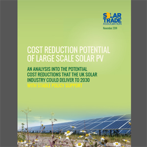 Cost reduction potential of large-scale solar PV - edie.net