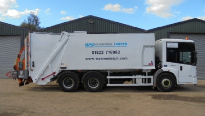 Mercedes Econic Refuse Vehicle with Dennis 70/30 Split Twin Pack Body for Hire
