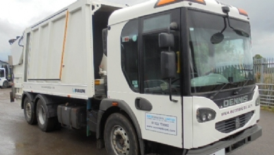 2009 YEAR DENNIS  6X2 REAR STEER REFUSE VEHICLE WITH FAUN BODY AND TERBERG LIFT