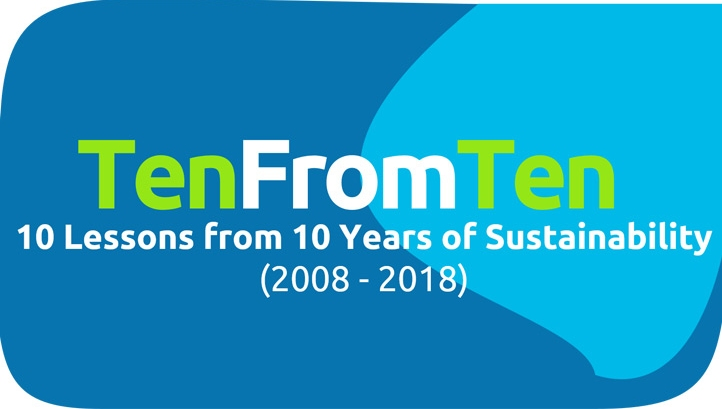 10 lessons from 10 years of sustainability