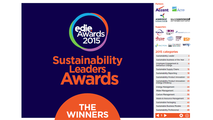 Meet the 2015 Sustainability Leaders - Winner Report - edie.net