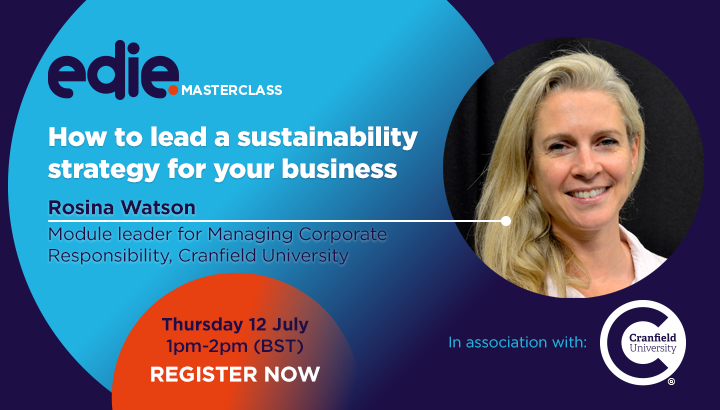 30-minute masterclass: How to lead a sustainability strategy for your business - edie.net