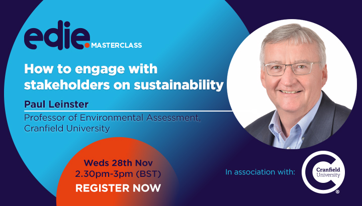30-minute masterclass: How to engage with stakeholders on sustainability - edie.net
