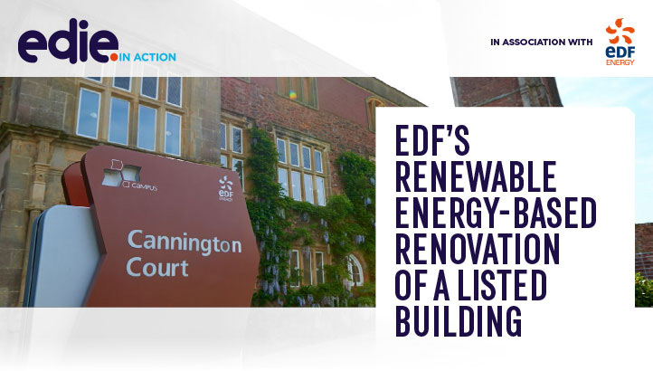 In action: EDF's renewable energy-based renovation of a listed building - edie.net