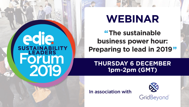 Webinar: The sustainable business power hour: Preparing to lead in 2019 - edie.net