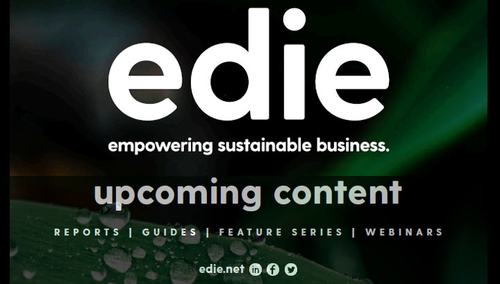Upcoming Content – Sponsorship Opportunities - edie.net