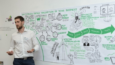 Chris Gaylard of Network Rail presented his team's thinking at the design sprint in Birmingham