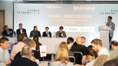 Pictured (L-R): Jonathan Murray, LowCVP; Nick Turton, The Energy Institute; Susanne Baker, TechUK; Caroline Bragg, the ADE; Nina Skorupska, The REA; and Luke Nicholls, edie (chairing).