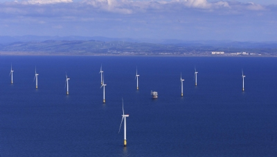 Pictured: The world's largest operational offshore wind farm,Walney Extension(659MW). Image: Orsted
