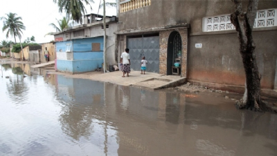 Pictured: Flooding in Lome, Togo.