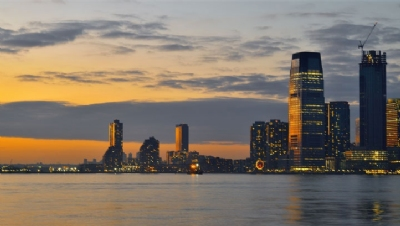 Pictured: Jersey City, where Goldman Sachs Tower is located