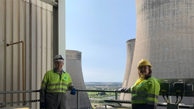 Pictured: Ruth Edwards MP visiting the Ratcliffe-on-Soar power station in 2020. Image: Uniper