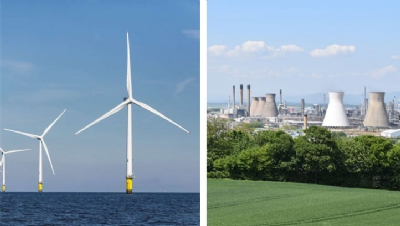 Image left: Orsted. Image right: Ineos.