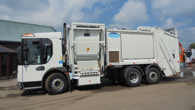 FOR SALE: 2010 YEAR 6X2 REAR STEER NARROW DENNIS DUO RCV WITH FOOD RECYCLING POD