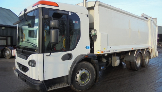 FOR SALE:   2009 YEAR 6X4 EURO 5 DENNIS REFUSE VEHICLE WITH WEIGH PREPARED TERBERG LIFT