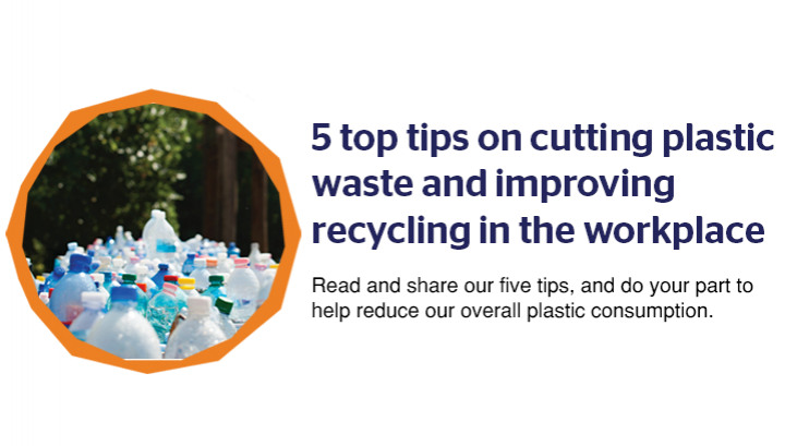 The Planet Mark™ key tips on cutting plastic waste and improving recycling in the workplace