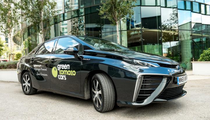 Zero emission Toyota Mirai fuel cell premium car