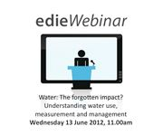 Water: The forgotten impact? Understanding water use, measurement and management