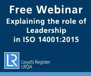 LRQA New 14001:2015 ISO Standard Webinar Series